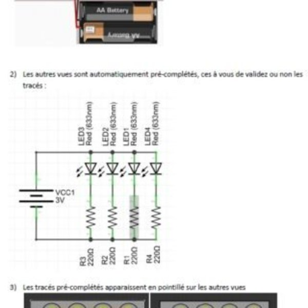 Circuit imprimé Maison- Création du typon