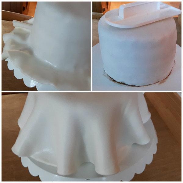 Weddingcake pour weddingday !- Pose de la pâte à sucre