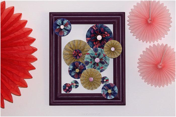 DIY : une déco murale de rosaces en papier- Réaliser la composition murale
