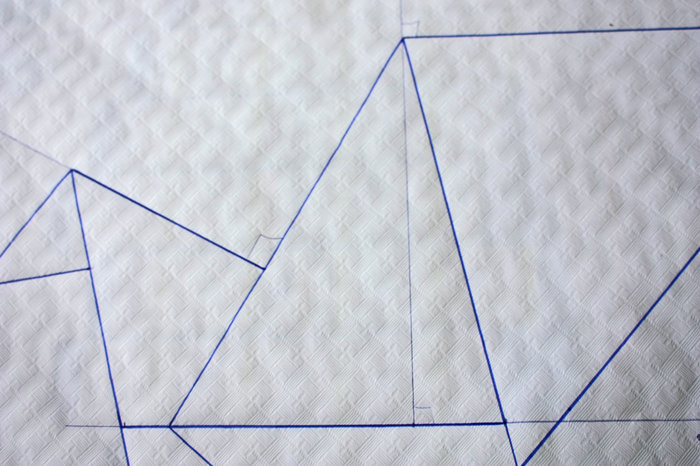 Inspiration origami pour une décoration murale ou les oiseaux s'envolent !!- Tracer le modèle