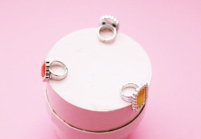Une boite à bijoux graphique et chic- coller les bagues