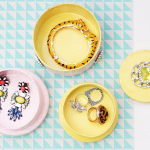 Une boite à bijoux graphique et chic- résultat !