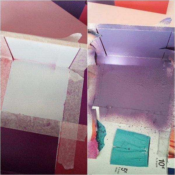 Une boîte à thé colorée- La peinture !