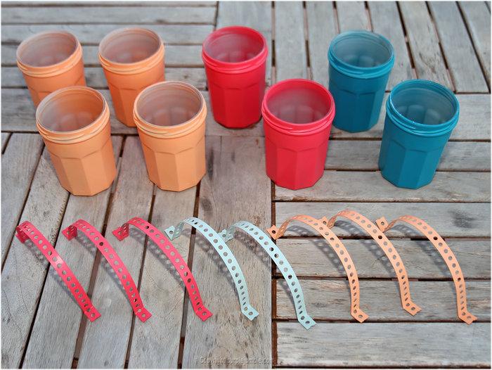 DIY couleurs et senteurs : un mur de plantes aromatiques- Préparer les attaches pour les pots
