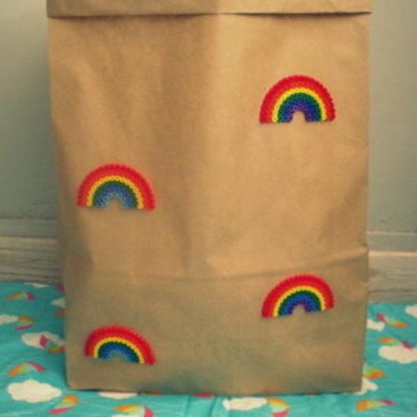 SAC DE RANGEMENT EN KRAFT- décorer le sac