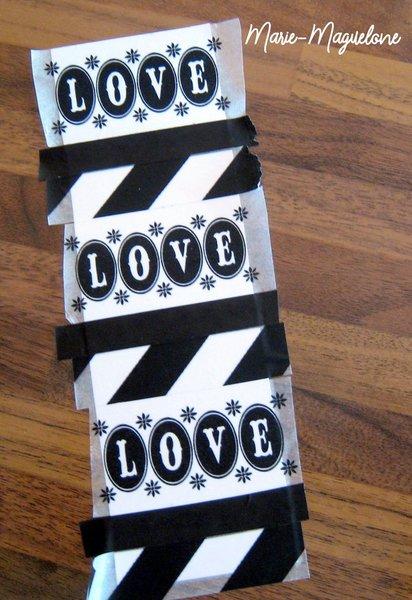 Fête des pères : marque-page et masking tape- Variante : carte et marque page d'une autre couleur