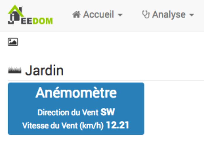 Anémomètre et girouette connectés- Affichage des mesures sur jeedom à l'aide de MQTT