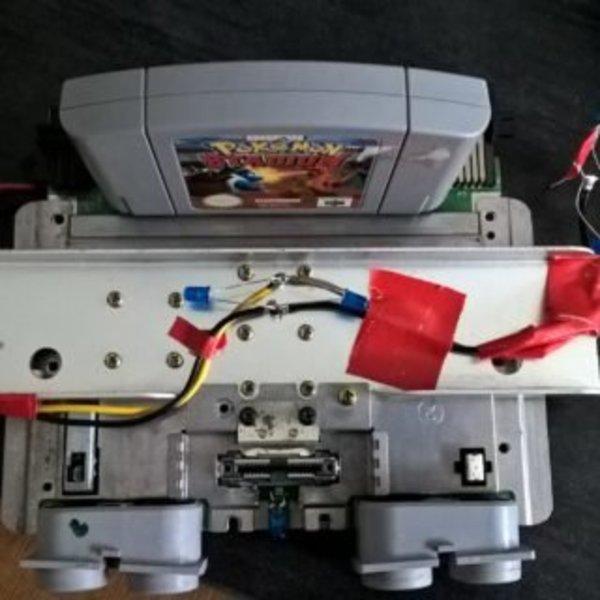 Customisation N64 avec led- montage des leds