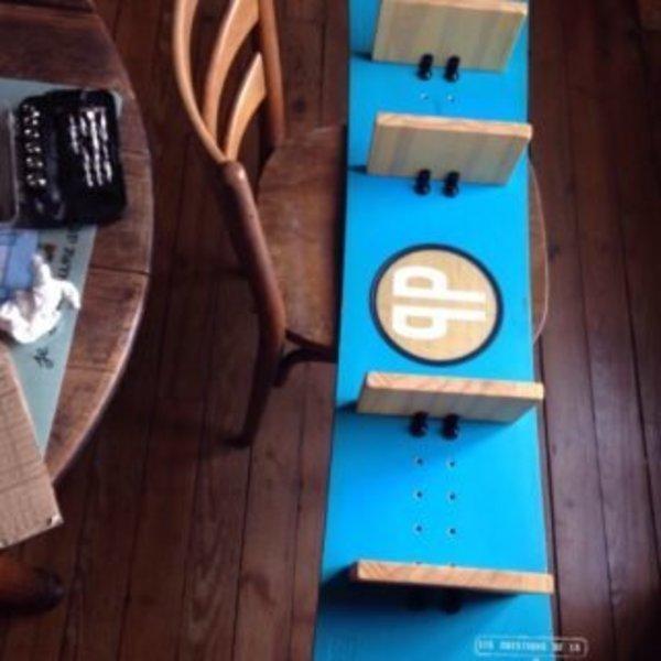 Snowboard… objet déco- Installation des planchettes sur le snow