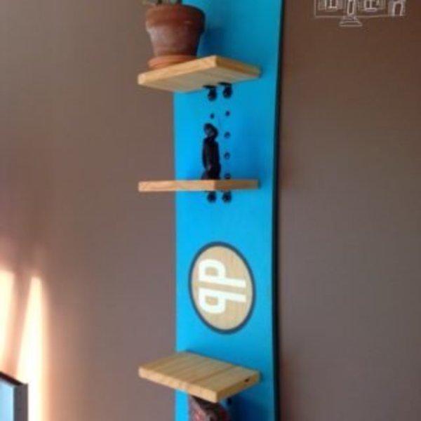 Snowboard… objet déco- Admirez !!!!!!