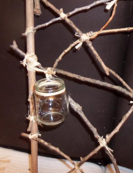 Cadre récup- Les pots en verre