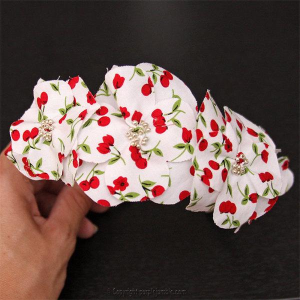 DIY : un serre-tête fleuri et gourmand- Customiser le serre-tête