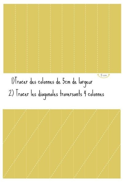 Lampe Origami- Marquez les feuilles au crayon et pliez