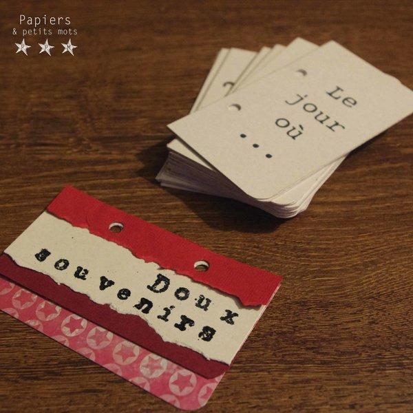 Un carnet de souvenirs pour papa- Monter le carnet