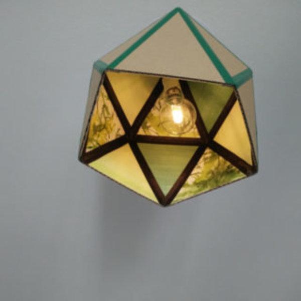 Une lampe en carton recyclé- C'est fini!