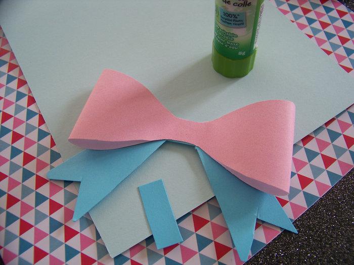 Une carte girly hand made pour la fête des mères- Plier