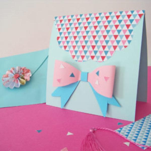 Une carte girly hand made pour la fête des mères- Finaliser