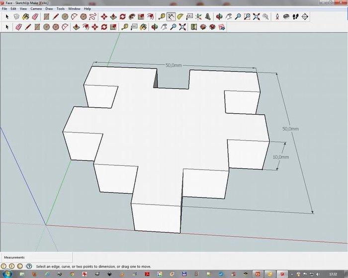 Créer un puzzle 3D avec SketchUp Make 2016- Mise en forme 3D