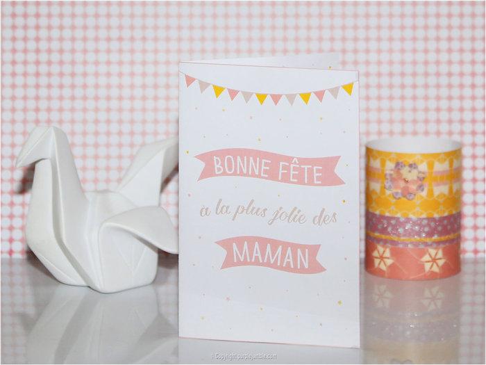 DES CARTES POUR LA FÊTE DES MÈRES « EN ROUTE FÉLICIE »- La carte recto / verso
