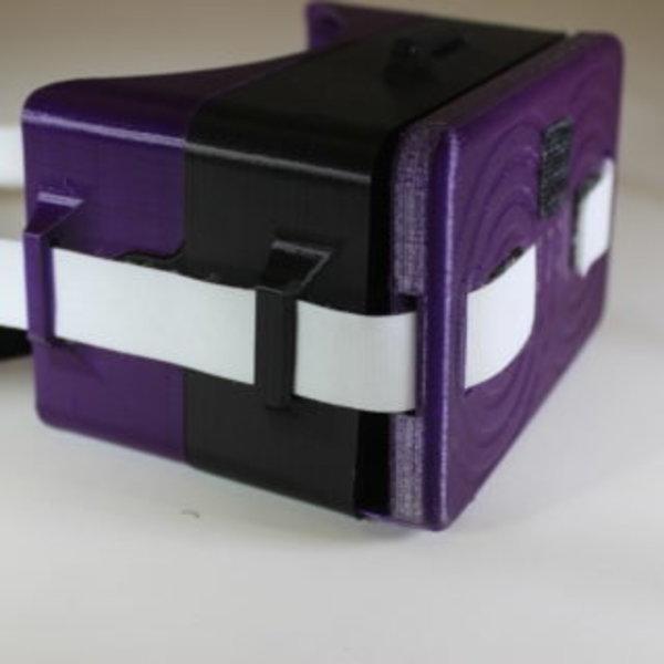 Lunettes de réalité virtuelle- Mise en place des bandes velcro velours sur les lunettes