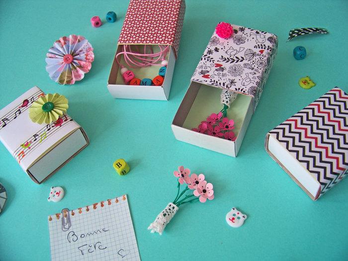 Mini boîtes pour petits cadeaux handmade- Garnir les boîtes