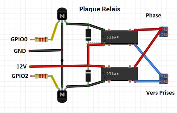 Relais Wi-fi avec ESP8266- Plaque Relais