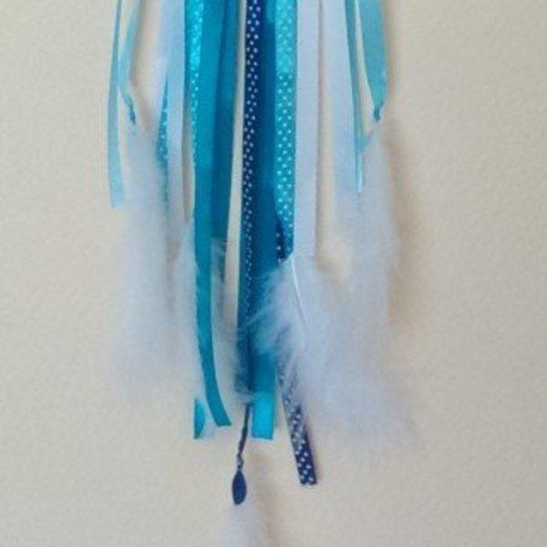Attrape rêves décoratif- Fixation des plumes