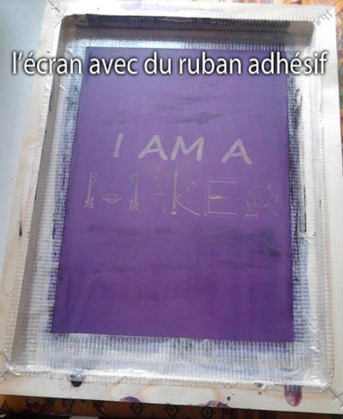 Impression de T-Shirt I Am a Maker- Emulsion de l'écran
