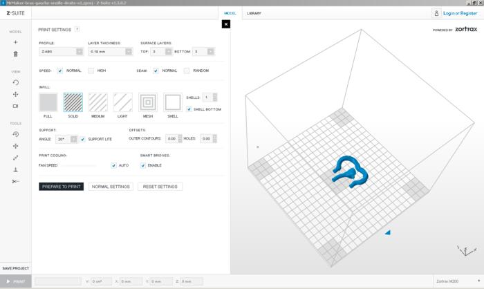 Monsieur Maker- Oreille droite & bras gauche – Impression 3D