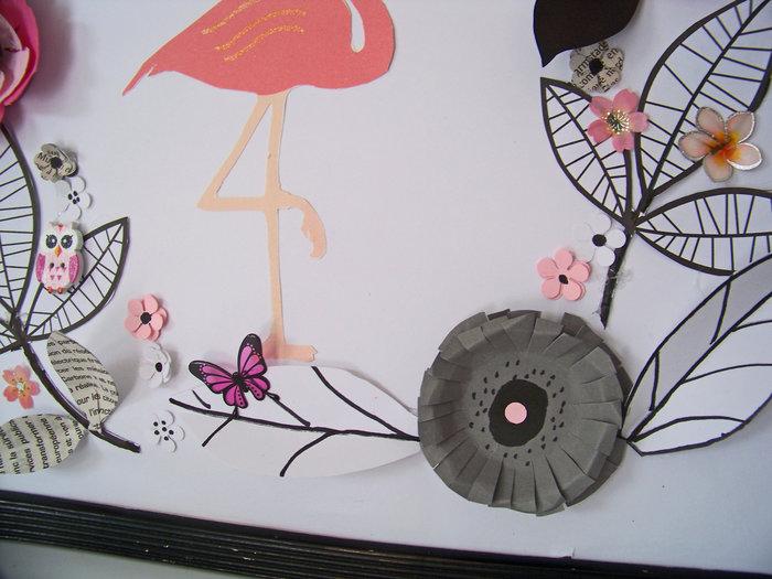 Les fleurs en papier s 'encadrent !- Le montage final
