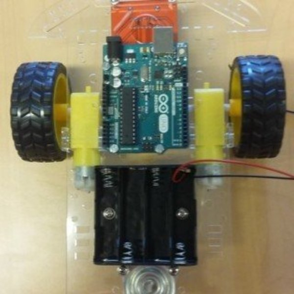 Robot piloté à distance par un Nunchuk- Le châssis