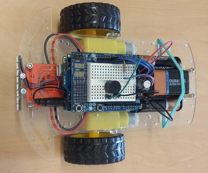 Robot piloté à distance par un Nunchuk- La partie électronique
