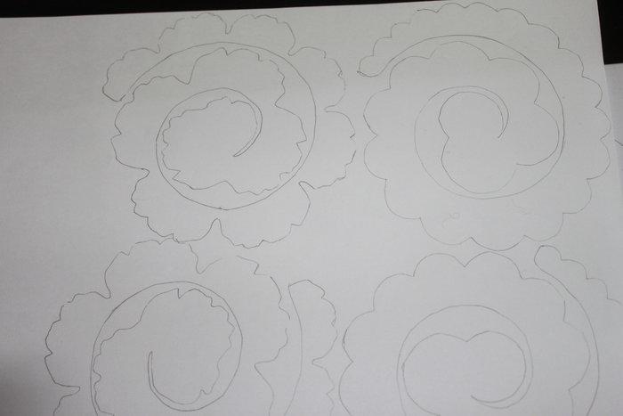 Lettre fleurie- Dessin