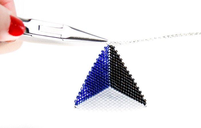 Pendentif géométrique- Montage