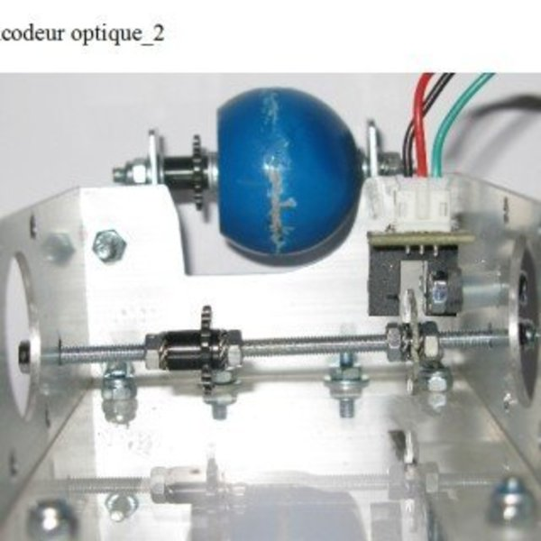 Robot mobile autonome- Partie mécanique 3 : montage de l'encodeur optique