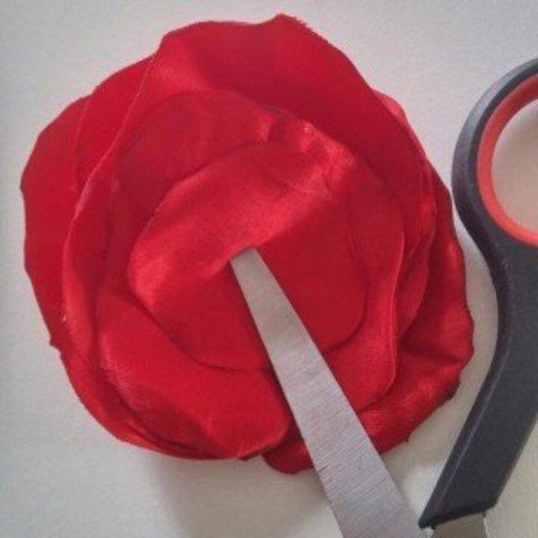 Headband estival à grosses fleurs- Fabrication des fleurs
