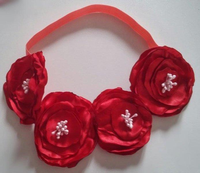 Headband estival à grosses fleurs- Créer le headband