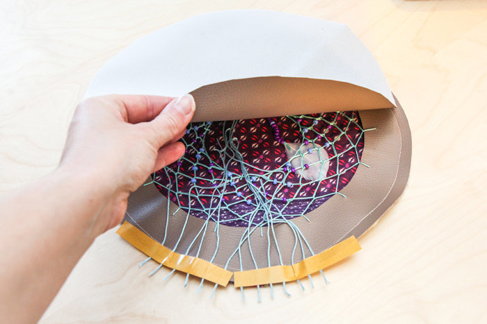 Sac Dreamcatcher- Assemblage des pièces extérieures du sac
