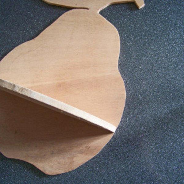 Les petites étagères fruitées en bois de récup !- Tracer la forme des étagères
