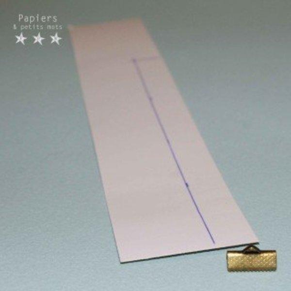 Un bracelet scintillant- Découper le papier