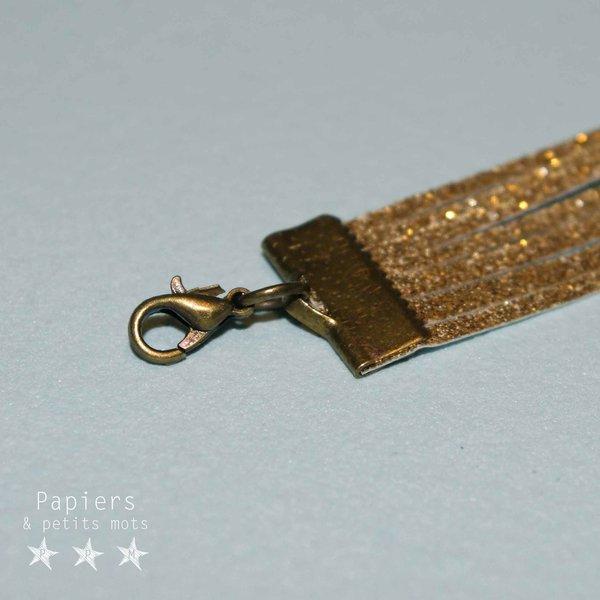 Un bracelet scintillant- Poser les apprêts