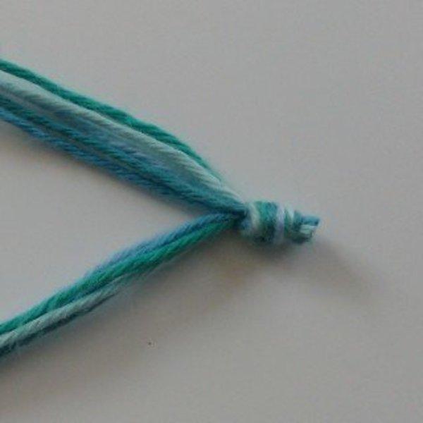 Headband chic pour effet choc- Préparation des fils de coton