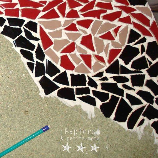 Un touret mosaïque- Poser la mosaïque