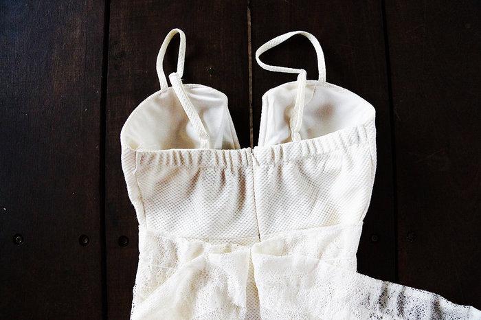 DIY robe de mariée- Recouvrir le bustier