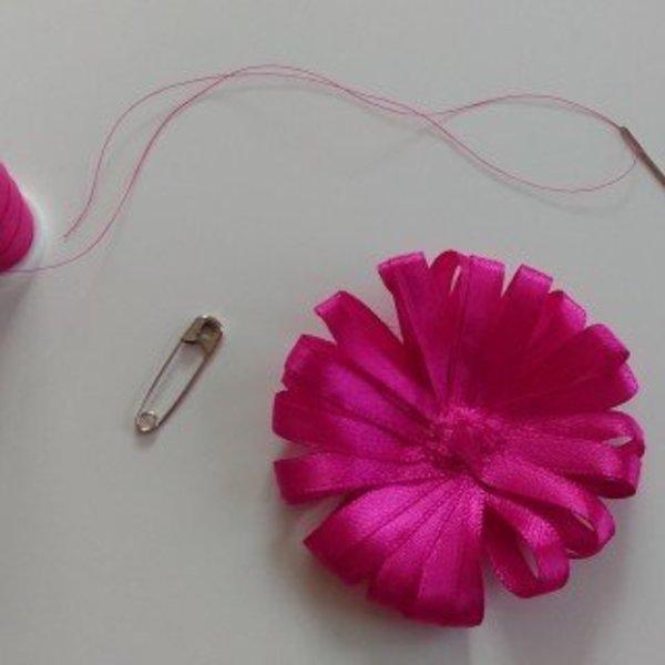 "Casquette ""Gavroche"" réversible- La broche ""fleur"""