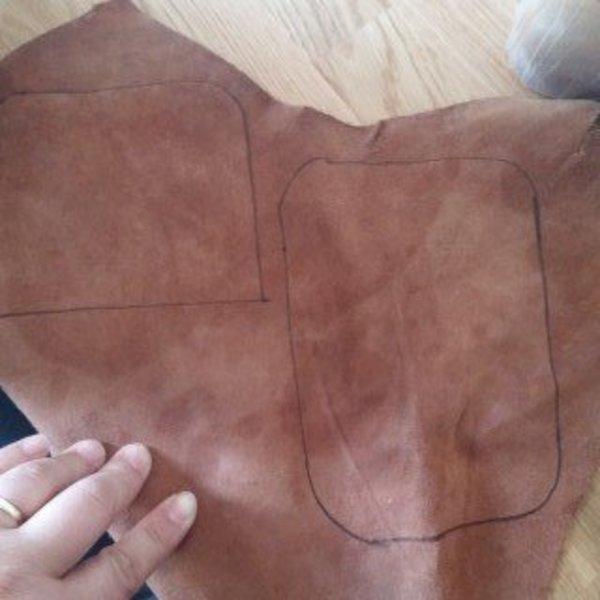 LE porte Monnaie de l'été pour aller acheter une petite glace le soir- Préparation des formes en cuir
