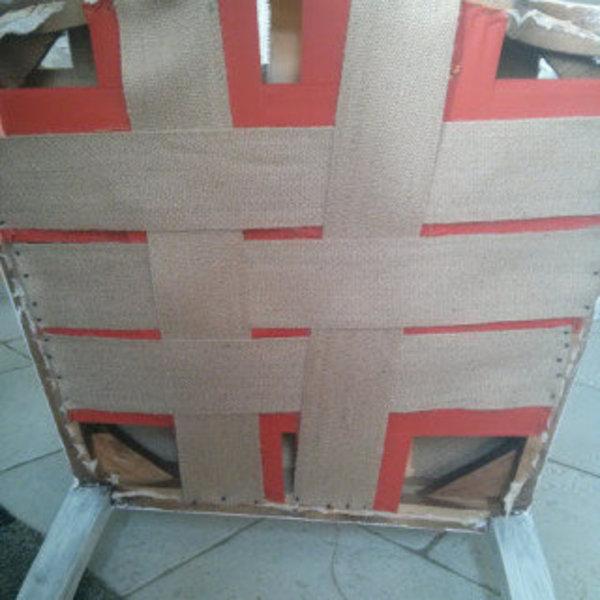 Rénovation d'un vieux fauteuil Voltaire- Réparation de l'assise les sangles (facultatif)