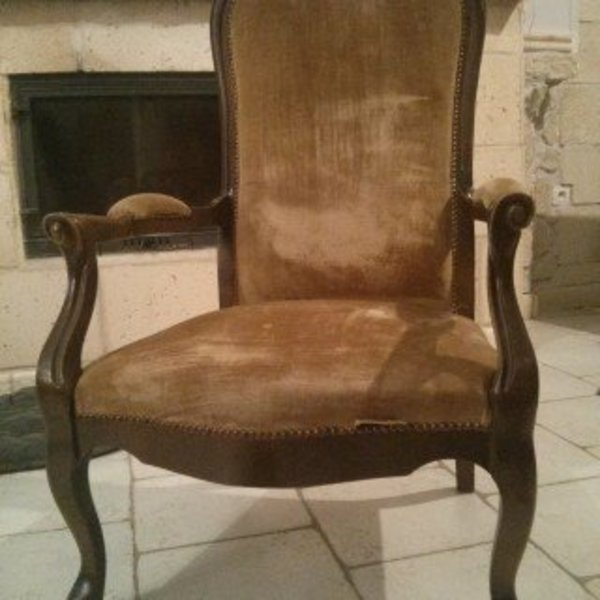 Rénovation d'un vieux fauteuil Voltaire- Terminé !