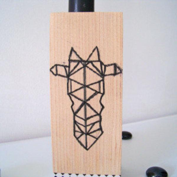 L'origami s'invite sur les bougeoirs en bois ..- Faire le dessin