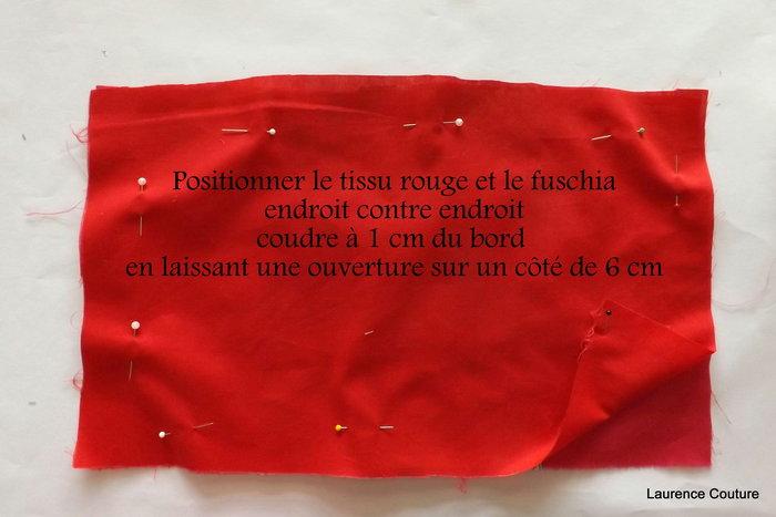 PORTE CHEQUIER TISSU MOTIFS FLEURS- Assembler les 2 tissus